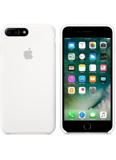 Jacobson iPhone 7 / 8 Plus Silikon Kapak Beyaz